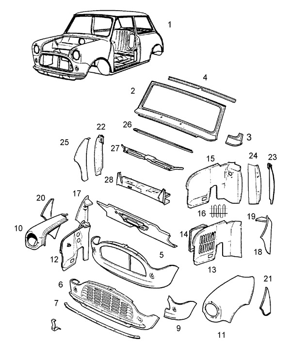 mini cooper body parts diagram  mini  auto wiring diagram