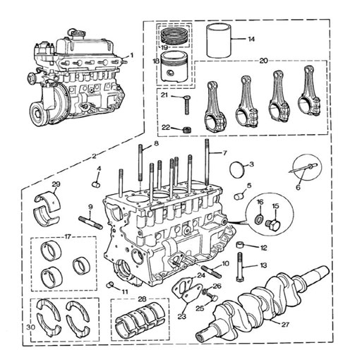 Engine Block 1275cc