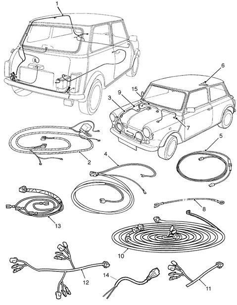sparescat9 73 mini cooper parts catalog mini cooper wiring harness at panicattacktreatment.co