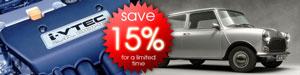 Save 15% Off Select VTEC Mini Parts