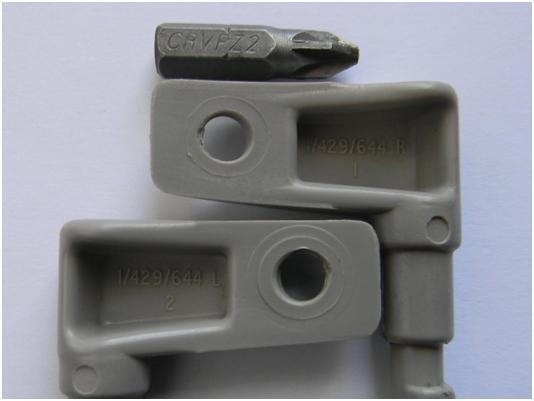 """Step 2  Note which new hinge piece is the """"L"""" Left and which one is the """"R""""  Right. 2451cc26551"""