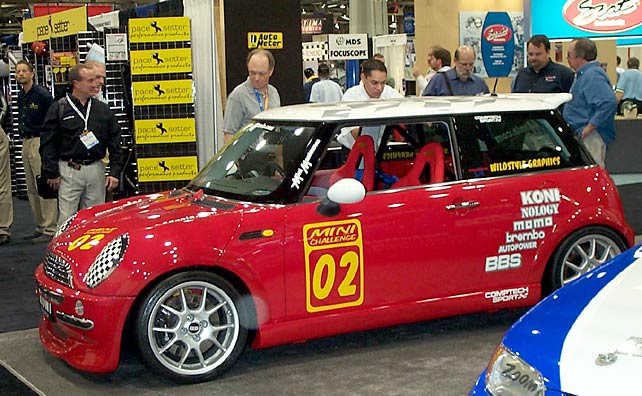 2002 Mini Cooper race car at SEMA