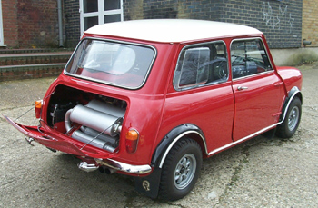 2 engines in a Mini Cooper S