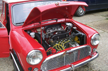 Front engine Mini Cooper S