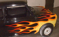 Mini Cooper side flames