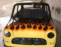 Mini Cooper Flame paint job
