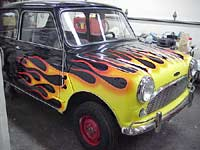 Finished Flamed Mini Cooper