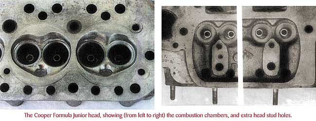 Mini Cooper small bore cylinder head