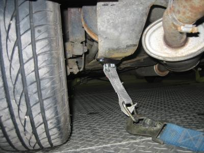 Race Car Frame >> How to Tie Your Mini Down to a Trailer