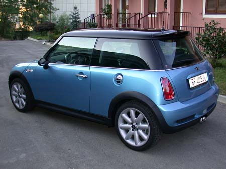 Light Blue With Black Roof Mini Cooper S