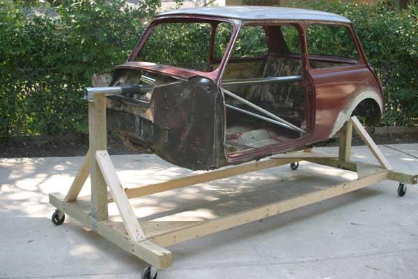 Homemade Wood Car Rotisserie