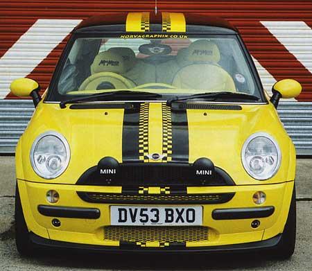 Yellow Mini Convertible
