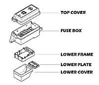 mini cooper fuse box oem gen1 r50 r53 up to 03 200. Black Bedroom Furniture Sets. Home Design Ideas
