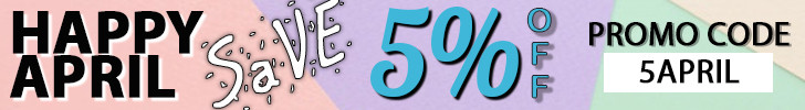April 5% off web banner