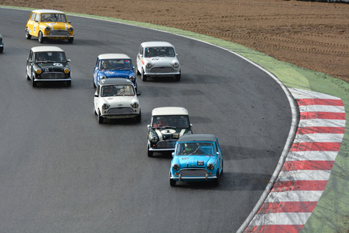 Classic Mini Coopers At Brands Hatch