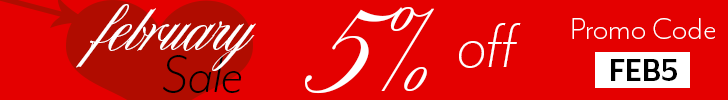 February 5% Off Sale