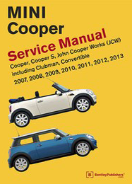 MINI Cooper Repair and service Manual 2007 2008 2009 2010 2011 2012 2013