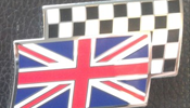 classic mini union jack badge