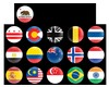 Mini Cooper Badge Dome Style Magnetic Flags E 3 Inch