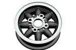 Rose Petal Wheel 4.75x10 Black On Silver