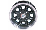 Mini Cooper 5x12 Diamond Cut Anthracite W/lugs + Cap
