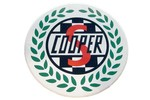 Classic Austin Mini Decal 'cooper S' Wreath 3 Inch Diameter External