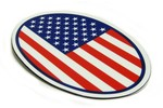 Magnetic Decal Hd Vinyl 5 X 3.25 Inches - American Flag Mini Cooper