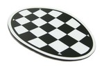 Magnetic Decal Hd Vinyl 5 X 3.25 Inches - Checkered