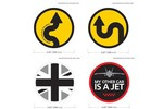 Mini Cooper Vinyl Badge Decal Various B 4.25 Inch