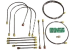 Classic Austin Mini Brake Pipe Kit Left Hand Drive -69 Hydrolastic