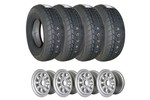 Set Of 4 Mini Cooper 5x10 Wheels With 165/70 Falken Tires