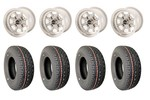 6x10 Vto Classic 8 Wheels & Yokohama 165/70x10 Tires Set Of 4