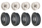 6x10 Vto Classic 8 Wheels & Falken 165/70x10 Tires Set Of 4