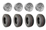 5x10 Gb Alloy Wheels & Yokohama 165/70x10 Tires Set Of 4