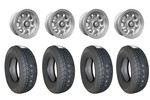 5x10 Gb Alloy Wheels & Falken 165/70x10 Tires Set Of 4
