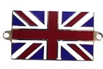 Austin Mini Union Jack Resin Enamel Badge With Lugs To Screw On