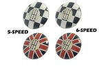 Shift Knob Cap Checkered Or Union Jack -/r52/r53