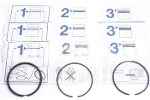 Piston Ring Sets 1098 3 Ring Piston