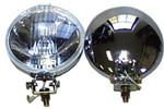 Chrome Spotlight Driving Lights , Pair 5-1/2 , Sprite , Mg Midget , Mini
