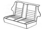 Dove Grey And Dark Grey Rear Seat Cover Kit 1962-67