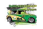 Austin Mini T-shirt Mincomp Racing - Medium