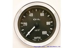 Austin Mini Smiths Mechanical Oil Pressure Gauge Black 0-100 Lbs.