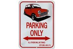 Classic Mini Image Parking Sign - Metal