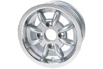 5x13 Minilite Style Wheel - Silver For Mini Or Sprite Et20