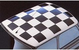 Classic Austin Mini Roof Decal Black Square Kit