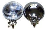 Classic Austin Mini Chrome Spotlight Driving Lights Pair 5 1/2 By Wipac