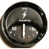 Classic Mini Smiths Ammeter, Black Face, -60 ~ +60 Scale