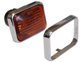 Classic Austin Mini Chrome Surround For Side Repeater Lamp