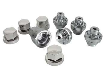 Wheel Lug Nut Locknut Set, Alloy Late Mini 8 Spoke Wheel