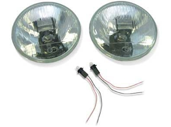 Austin Mini Wipac Quadoptic Headlamp Headlight Set Right Hand Drive